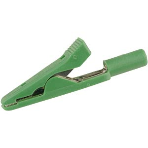 2.0-mm miniature alligator clip, green HIRSCHMANN TEST & MEASUREMENT 930317804