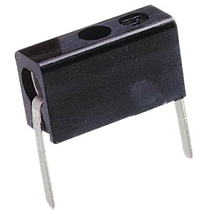 Miniature test socket, Ø= 2 mm, black, PCB mounting HIRSCHMANN TEST & MEASUREMENT 930224100