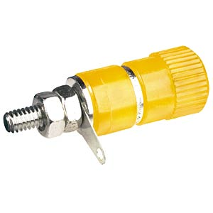 4-mm pole terminal, yellow +++ NEW DESIGN +++ FREI