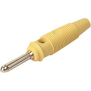 4,0mm Büschelstecker, Löt 2,5 mm²,gelb HIRSCHMANN TEST & MEASUREMENT 930727103
