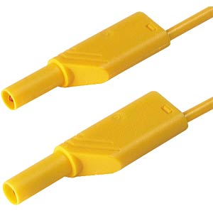 4.0 mm safety measuring lead MLS WS200, yellow HIRSCHMANN TEST & MEASUREMENT 934069103
