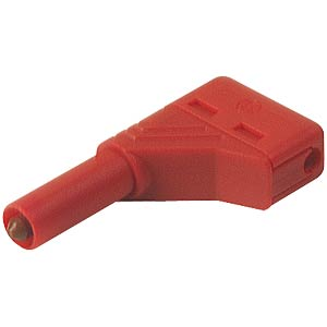 4.0 mm angled safety plug, red HIRSCHMANN TEST & MEASUREMENT 934098101