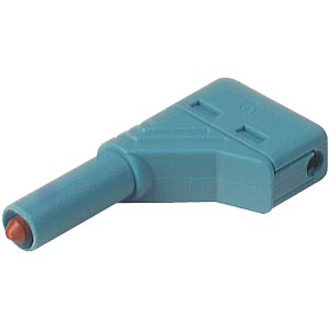 4.0 mm angled safety plug, blue HIRSCHMANN TEST & MEASUREMENT 934098102