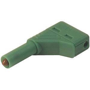 4.0 mm angled safety plug, green HIRSCHMANN TEST & MEASUREMENT 934098104