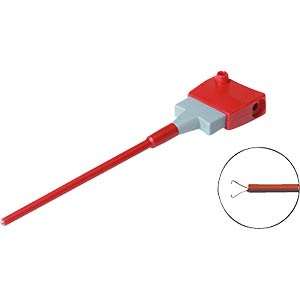 4.0 mm clip probe tip, up to 4 mm, red HIRSCHMANN TEST & MEASUREMENT 973053101
