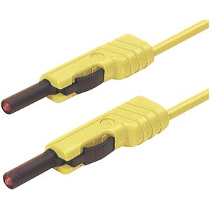 4.0-mm measuring lead SH, MLB100 yellow HIRSCHMANN TEST & MEASUREMENT 973646103