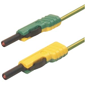 4,0 mm Messleitung SH, MLB100 gelb-grün HIRSCHMANN TEST & MEASUREMENT 973646188