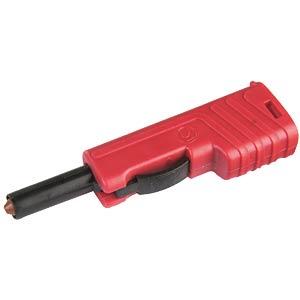 Sicherheitslaborstecker, 4 mm, rot HIRSCHMANN TEST & MEASUREMENT 932153101