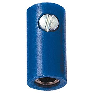 Miniature coupling, 2.6mm, blue FREI