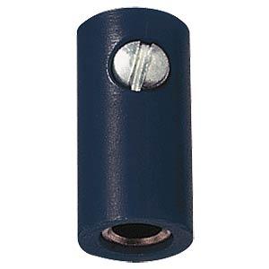 Zwerg-Kupplung, 2,6mm, schwarz FREI