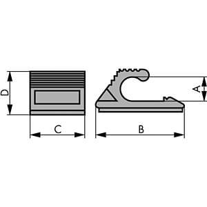 Kabelschelle für Ø 5,5-7mm 100er-Pack RND CABLE RND 475-00312