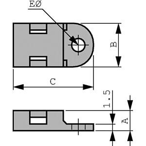 Schraubsockel für 5,2 mm Kabelbinder, weiß, 100er-Pack RND CABLE RND 475-00377