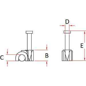Kabelklemme mit Nagel = 5 mm RND CABLE RND 475-00411