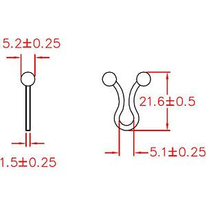 Kabeldriller, Innen Ø 4 - 7 mm, natur, 100er-Pack RND CABLE RND 475-00425