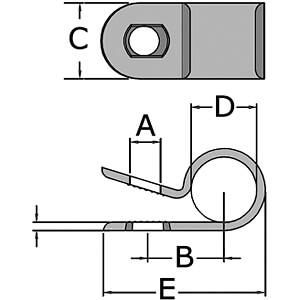 Befestigungsclips für Ø 3.1mm 100er-Pack RND CABLE RND 475-00436
