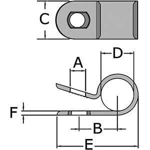 Befestigungsclips für Ø 6,4mm 100er-Pack RND CABLE RND 475-00438