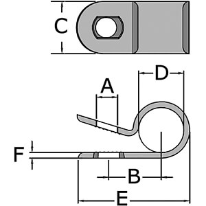 Befestigungsclips für Ø 7,9mm 100er-Pack RND CABLE RND 475-00439