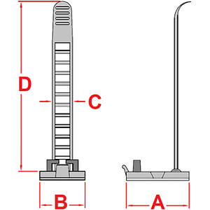 Kabelschelle, einstellbar, natur RND CABLE RND 475-00471