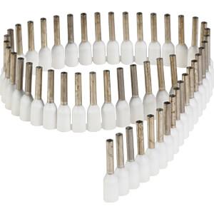 Aderendhülsen - Streifen, 0,75 mm², weiß FREI