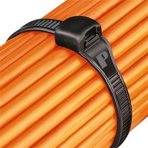 Kabelbinder, außenverzahnt, 142 mm, schwarz PANDUIT CBR1.5M-M0