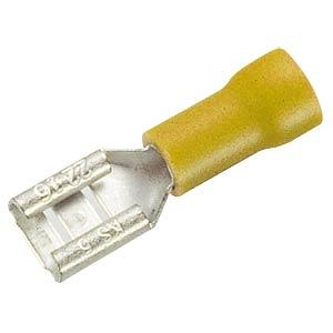 Flachsteckerhülse, Breite: 6,35mm, gelb FREI