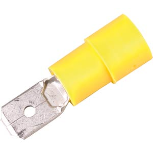Flachstecker, Breite: 6,35mm, gelb FREI