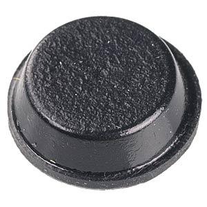 Klebefüße, selbstklebend, Ø 20,6 mm, 6 mm, schwarz FREI