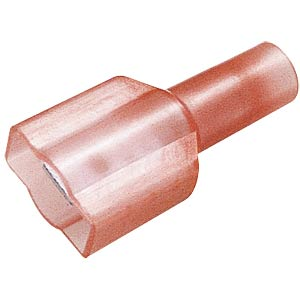 Flat plug, fully insulated, width: 6.35 mm, red FREI