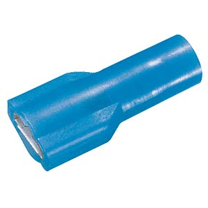 Flat plug sleeve, fully insulated, width: 6.35 mm, blue FREI