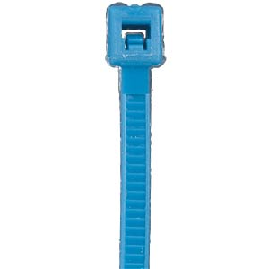 Cable ties, 383x 7.6 mm, fluorescent blue, pack of 100 FREI
