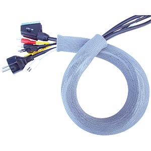 Plastic cable tidy, 50 mm, grey length 2 m FREI
