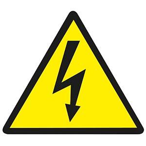 Warnaufkleber: Gefährliche Spannung FREI
