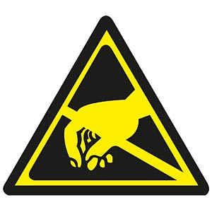 Warnaufkleber: elektrost.gefährdete Bauelemente FREI