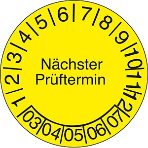 Test badges: next test date FREI