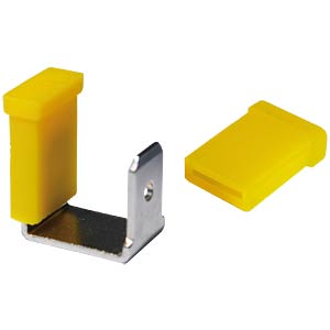 Protective cap for flat connectors, 6.3 mm, yellow VOGT AG 8617