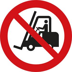 Verbotsschilder: Für Flurförderzeuge verboten, 50 mm WE EISENACHER M74109.2K