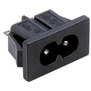 Kleingeräteeinbaustecker C8, schwarz BKL 073392