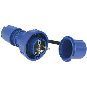Earthed plug with protective cap, IP66/68 PC ELECTRIC 20051-B