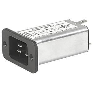 Kaltgerätestecker mit Netzfilter, 16 A, C19 SCHURTER C20F.0001
