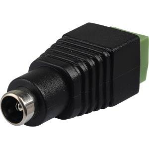 DC-Adapter - Kupplung auf Lüsterklemme, 2,1 mm BKL 072238