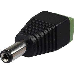 DC-Adapter - Stecker auf Lüsterklemme, 2,1 mm BKL 072236