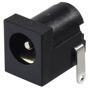 DC-Socket, flat contacts, 2,1mm, 90° FREI