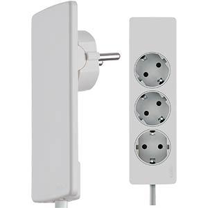 Innovative space-saving lever power strip, white EVOLINE 8107