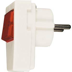 Earthed plug, plastic, with switch FREI