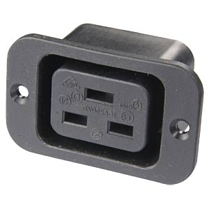 Appliances socket up to 16 A, screw mount SCHURTER 6653.3300