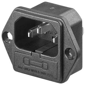 Fitted plug for non-heating appliances with fuse link FREI