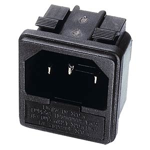 Fitted plug for non-heating appliances, snap-in FREI SE-KSS 02