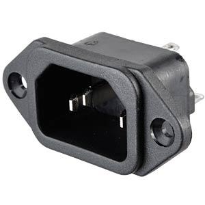 AC-Netzeinbaugerätestecker Lötanschluss FREI