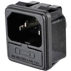 Kaltgerätestecker mit Sicherungseinsatz, Snap-In FREI SE-KSS 02