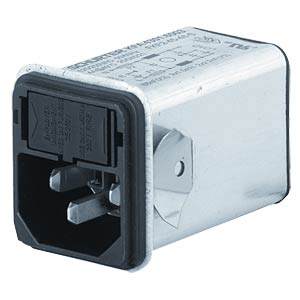 Non-heating appliance plug, snap-in mount, 2-pin, 6 A SCHURTER 4301.6004